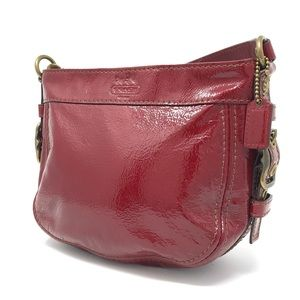 Coach Red Patent Leather Mini Bag